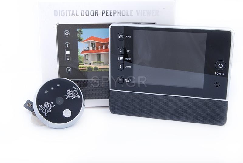 Ματάκι πόρτας με LCD οθόνη