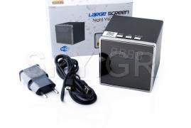 IP κάμερα σε ρολόι με νυχτερινή λήψη