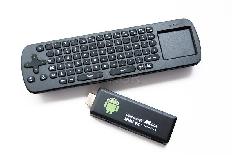 Ασύρματο μίνι πληκτρολόγιο + Μίνι PC TV μίνι-Η/Υ