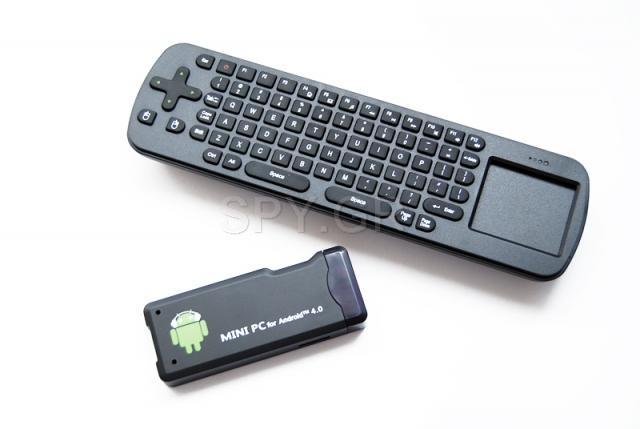 Ασύρματο μίνι πληκτρολόγιο + Μίνι PC με Android 4.0