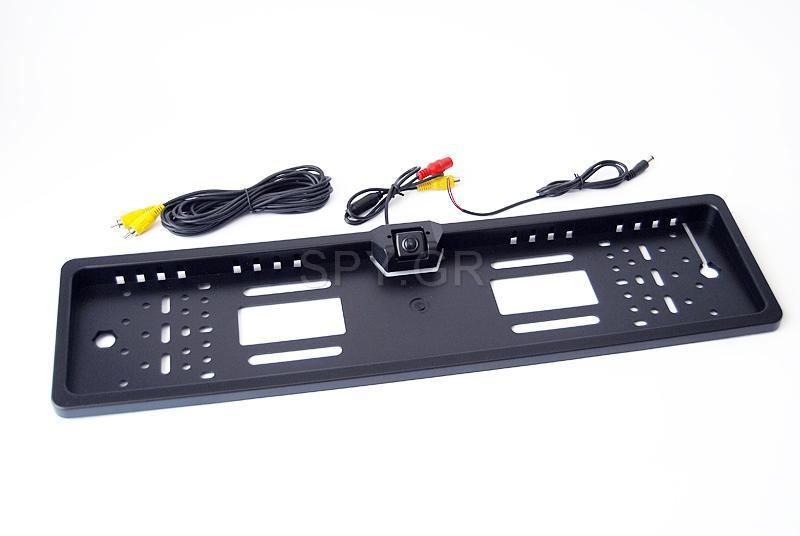 Μινι κάμερα τοποθετημένη σε βάση για αριθμό αυτοκινήτου