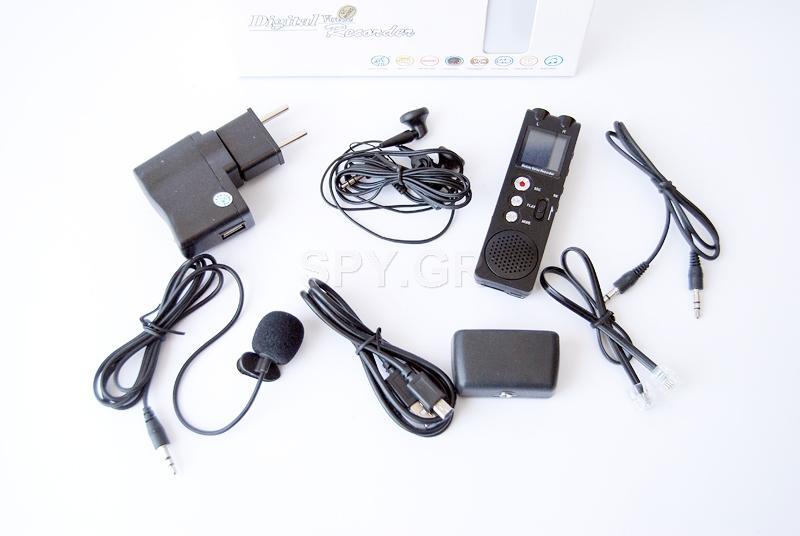 Εγγραφέας ήχου με  bluetooth και με μείωση του θορύβου