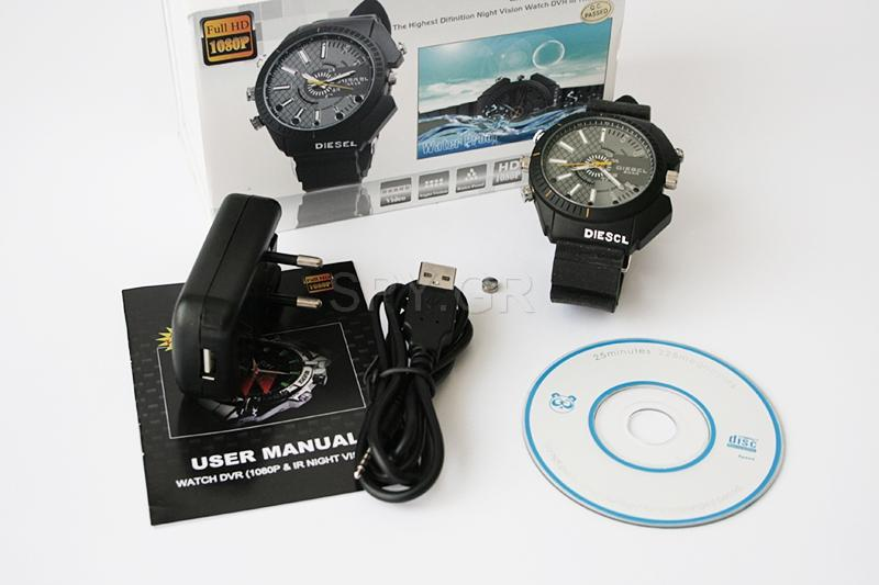 Κάμερα σε αδιάβροχο ρολόι με IR διόδους