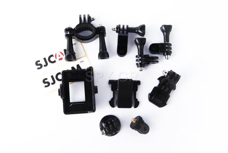 Αθλητική κάμερα λευκή SJCAM SJ4000 WIFI για αυτοκίνητο+δεύτερη μπαταρία