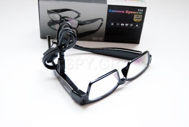 HD κάμερα μέσα σε γυαλιά