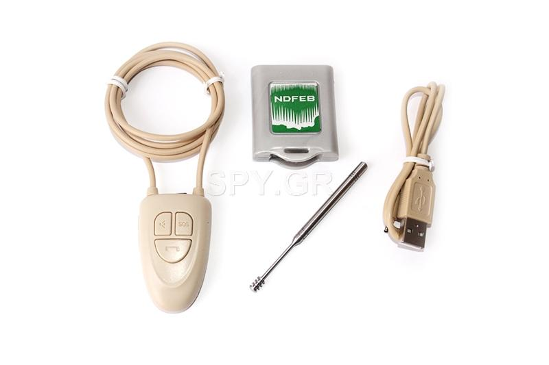 Μαγνητικό μίνι ακουστικό με δέκτη Bluetooth