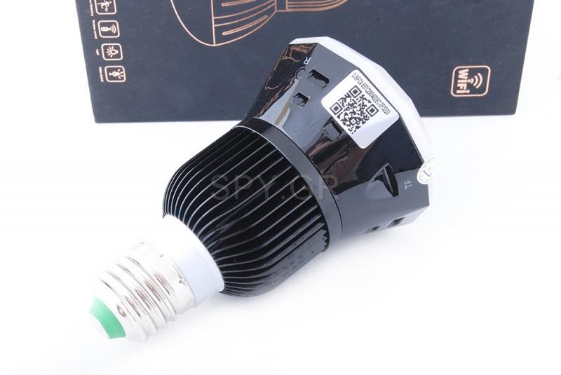 IP ηλεκτρική κάμερα μέσα σε λάμπα(μαύρη)
