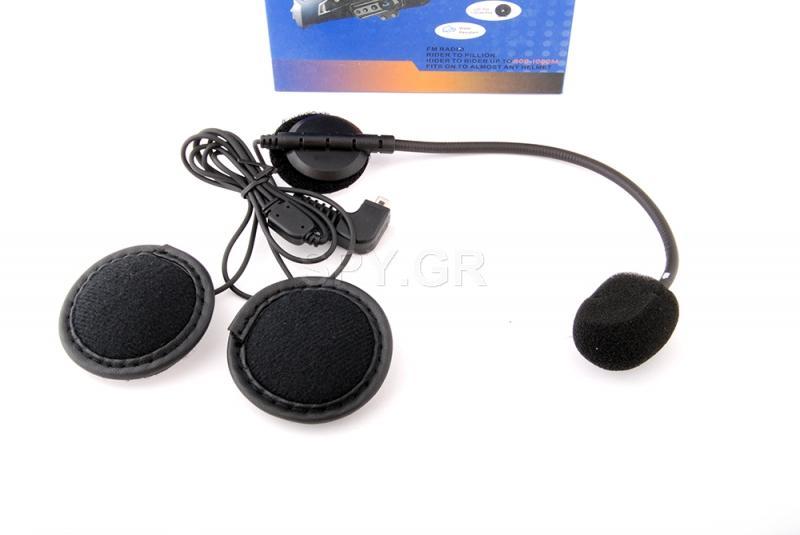 Ακουστικά για κράνος με bluetooth και ίντερκομ
