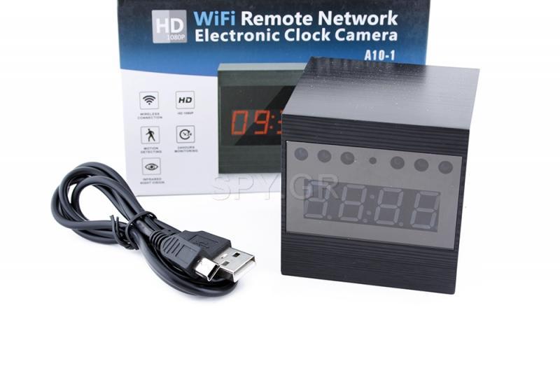 Επιτραπέζιο ρολόι IP με IR διόδους για νυχτερινή λήψη A10-1